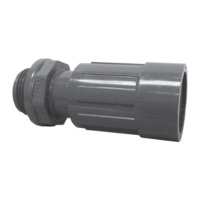 """Rain Bird PVC szelepakna elosztó - egyenes csatlakozó hollandival 1"""" bm x 1"""" km"""