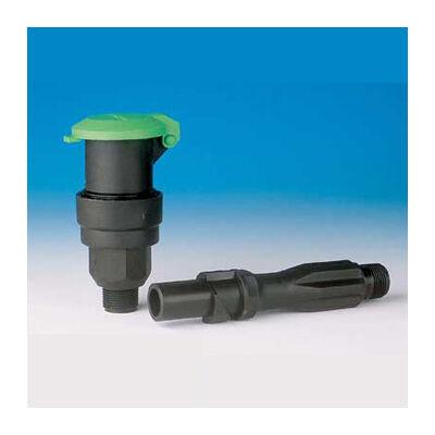 """Rain Bird műanyag vízkonnektor zöld tetővel - 3/4"""" km csatlakozás"""