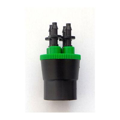 """4 kivezetéses szabad átfolyású elosztó 76 l/ó, 1/2""""- 4x4 mm, max. 3,5 bar"""
