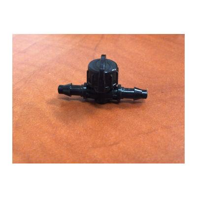 Elzárószelep 6/4 mm-es csőhöz tömlővéges csatlakozással